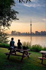 toronto_island_couple_table_city-view_01_8773252221_o (wvs) Tags: boat centre cityscape downtown green island lake landscape summer sunset toronto ward water