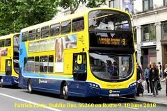 Route 9, Charlestown to Limekiln Avenue, Dublin Bus, SG260, 18 June 2018 (Shamrock 105) Tags: dublin volvo dublinbus volvob5tl wrightbus phibsboro phibsborogarage gemini oconnellstreet limekilnavenue route sg260
