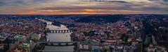 Sunset in Prague (george papapostolou) Tags: mavic2pro dji aerial drone aerialphotography dronephotography prague czechrepublic sunest panorama travel europe george papapostolou