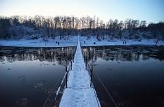 T-shaped (daimak) Tags: lithuania river bridge neris winter lanscape twilight wideangle 17mm sonyilce7
