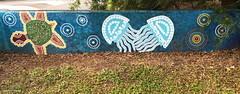Turtle & Jellyfish - Ages of the Tweed Mural, Commercial Rd, Murwillumbah, NSW (Black Diamond Images) Tags: agesofthetweedmural jurassic jurassicperiod megafauna earthlearning mural art painting floodmitigationwall commercialrd murwillumbah nsw murwillumbahartstrail appleiphone7plus iphone7plusbackdualcamera iphone7plus phone7plus iphone appleiphonepanorama panorama iphonepanorama appleiphone7pluspanorama turtle jellyfish commercialroad
