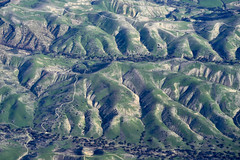 Green Hills (papajoesm) Tags: green brown hill hills california airplane windowseat flying