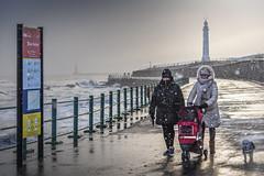 Seaburn Promenade, Sunderland (Explore) (DM Allan) Tags: sunderland wearside coast seaburn cliffepark snow winter promenade lightouse garyskiosk tramshelter