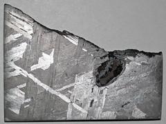 Octahedrite (Brenham Meteorite) (Kiowa County, Kansas, USA) 5 (James St. John) Tags: octahedrite iron meteorite brenham meteorites kiowa county kansas asteroid belt metal kamacite taenite nickel