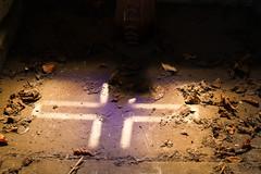 Window light (kazuvortex) Tags: cemetery cross light mausoleum