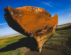 Rustic (subterraneancarsickblues) Tags: fleetwood lancashire wyreestuary marsh wetland ship boat derelict abandoned decommissioned rust orange wideangle dutchangle canon 6d eos6d 1635mm f4l lseries shipwreck