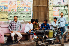 Men in Alley, Varanasi India (AdamCohn) Tags: adam cohn ganga ganges india uttarpradesh varanasi laughing men streetphotographer streetphotography talking wwwadamcohncom adamcohn