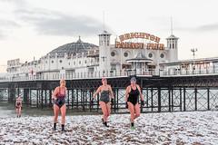Brighton Swimming Club In The Snow February 1st 2019 (lomokev) Tags: file:name=015dmrk3a2795 brighton swim swimming swimmers sport pier brightonpier palacepier snow water canoneos5d canon eos 5d beach swimmingcostume