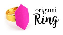 Origami Ring Tutorial - Valentine's Day DIY - Paper Kawaii (paperkawaii) Tags: origami instructions paperkawaii papercraft diy how video youtube tutorial