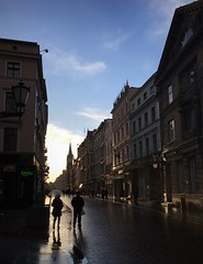 After the rain (roomman) Tags: 2019 torun town city trip weekend exhibition art marina abramovic marinaabramovic museum modern centre contemporary performance artist is present poland after rain shadow shadows people walk walking teh cobble stone street streets old