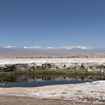 The Eyes of the Salar (Ojos del Salar), the Salar de Atacama, the Atacama Desert, San Pedro de Atacama, Chile. thumbnail
