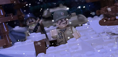 A lieutenant colonel leads his troops into battle (brickhistorian) Tags: moc minifig minifigure brick bricks build building war world wars ww2 wwii two pewpew usa murica allies lego legos europe germany army battle custom customs fig forces