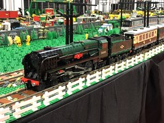 Happy 2019! (technoandrew) Tags: live birmingham brick 7wide green rebuilt pacific canadian 35005 class navy merchant bulleid layout track model moc stock rolling railway locomotive engine steam train lego
