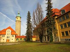Arnstadt (germancute) Tags: outdoor arnstadt thuringia thüringen tree town neideck building school