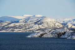 Altafjorden (Seventh Heaven Photography *) Tags: altafjorden alta fjords northern north norway mountains snow sea water blue sky peaks nikond3200 norwegian clouds