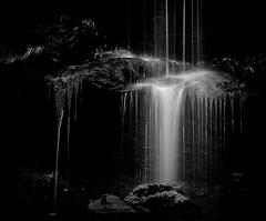 Small waterfall (MortenTellefsen) Tags: waterfall water norway norwegian nature natur norsk bw blackandwhite blackandwhiteonly bnw bergen black foss