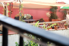 Comfort in the Everyday (tomjparke) Tags: balcony barcelona spain sky pink nature plants