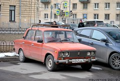 Lada 2106 - Russia, Saint-Petersburg (Helvetics_VS) Tags: licenseplate russia stpetersburg oldcars lada 2106