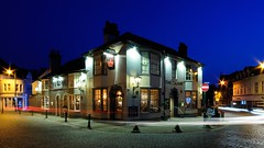 The Crown in the Blue Hour (Puckpics) Tags: thecrown publichouse pub carfax horsham greeneking alehouse traditionalpub westsussex evening bluehour blue night twilight nightfall