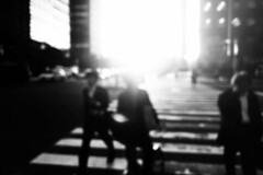 untitled (ChrisRSouthland (mostly off, traveling & working)) Tags: people zebracrossing bw tokyo urban city sunlight contraluz provoke iphone streetphotography street blackandwhite monochrome