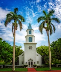 Church By The Cove (Charles Patrick Ewing) Tags: architecture church palms trees landscape tropical landscapes cloud clouds sky green fave faves new all everything flickr nikon florida outdoor colorful colors naples beautiful religion religious god best photo star art artistic fine