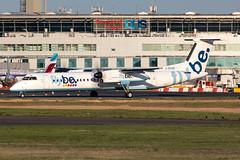 G-ECOD Flybe Bombardier Dash 8-Q402 (buchroeder.paul) Tags: eddl dus dusseldorf international airport germany europe ground dusk gecod flybe bombardier dash 8q402