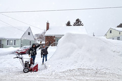 The Father The Son and The Snowbank (Chaos2k) Tags: 52weeks 52weeksthe2019edition brianboudreau northbay ontario canada canon5dmarkii canon24105l manfrotto 488rc2 055xprob snow family winter snowblower car house