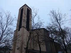 1952/54 Mainz katholische Kirche St. Bonifaz Bonifaziusplatz 1 in 55116 Altstadt (Bergfels) Tags: architekturführer bergfels 195254 1952 1950er 20jh brd rheinlandpfalz mainz katholisch kirche stbonifaz stbonifatius bonifaziusplatz 55116 altstadt beschriftet