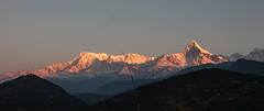 Annapurna range at sunrise (Malcolms wanderings) Tags: annapurna nepal mountain snow sunrise himalayas