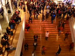 The crowds have arrived (seikinsou) Tags: brussels belgium bruxelles belgique autumn femikuti concert nationaltheatre music nigerian dance crowd stairs