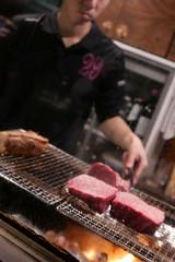 taking care of beef (HAMACHI!) Tags: tokyo 2019 japan food foodporn foodie foodmacro meat beef 肉山 nikuyama kichijoji restaurant diningrestaurant lumix lumixdclx100m2 dclx100m2