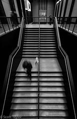 Tate Stairs (Scrufftie) Tags: stairs workshop canon5dsr monochrome london mono style streetphotography amershamstudios blackwhite canonef1635mmf4 canon tatemodern bw handheld