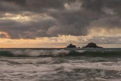 THE BRISONS (Kathy ~ FineArt-Landscapes) Tags: porthnanven poldark cornwall britain landscape sunset storm mood waves ocean