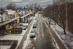 Marjory Avenue (A Great Capture) Tags: eastend homes houses marjoryavenue agreatcapture agc wwwagreatcapturecom adjm ash2276 ashleylduffus ald mobilejay jamesmitchell toronto on ontario canada canadian photographer northamerica torontoexplore winter l'hiver 2019 streetcar gerrardsquare gerrardstreet snow badgerow cars street neighbourhood mall shopping people ttc february 6dmkii riverdale neighborhood fromabove cold weather colours colors colourful colorful cityscape urbanscape eos digital dslr lens canon sky himmel ciel outdoor outdoors outside architecture architektur arquitectura design trees streetphotography streetscape photography streetphoto calle neige schnee clouds cloudy