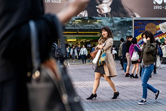 What Am I Doing Up At This Hour? I'm A Night Owl. (burnt dirt) Tags: asian japan tokyo shibuya station streetphotography documentary candid portrait fujifilm xt1 bw blackandwhite laugh smile cute sexy latina young girl woman japanese korean thai dress skirt shorts jeans jacket leather pants boots heels stilettos bra stockings tights yogapants leggings couple lovers friends longhair shorthair ponytail cellphone glasses sunglasses blonde brunette redhead tattoo model train bus busstation metro city town downtown sidewalk pretty beautiful selfie fashion pregnant sweater people person costume cosplay boobs