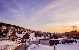Sonnenuntergang in Steinheid