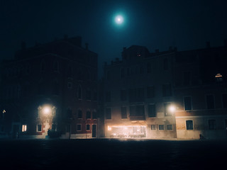 fog hidden in the night