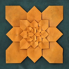 Hydrangea - Shuzo Fujimoto (pierreyvesgallard) Tags: hydrangea shuzo fujimoto origami tessellation fractal geometric symetry paper papercraft