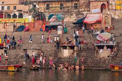 Varanasi, India (Ninara) Tags: varanasi india uttarpradesh ghat ganges ganga gangaaarti sadhu nagasadhu sunrise morning bathing holycity ahilyabaighat kashi benares