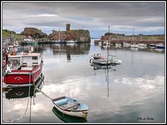 le paisible port de Dunbar (pileath) Tags: scotland ecosse dunbar port bateaux barque ruines chateaux castle ruins harbor small boat voyage landscape