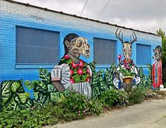 Circle of the Hunt by Diskeuno (wiredforlego) Tags: graffiti mural streetart urbanart aerosolart publicart chicago illinois ord diskeuno