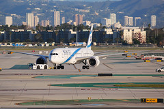 EL AL Boeing 787-9 Dreamliner 4X-EDE (Mark Harris photography) Tags: spotting lax la canon 5d plane aviation