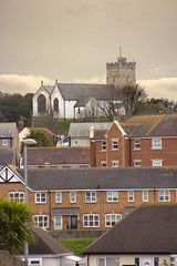 The church on the hill (rhianwhit) Tags: rhos church building houses roof town townscape