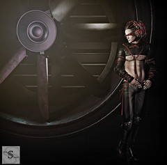 Shss Can you hear them (SaySay Reignn) Tags: posesion poses fashion cyber backdrops clothing dark passion secondlife people futuristic neon sole ay
