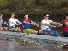 IMG_1126 (NUBCBlueStar) Tags: rowing remo rudern river aviron february march star university sunrise boat blue nubc sculling newcastle london canottaggio tyne hudson thames sweep eight pair
