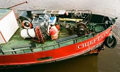 21a Whitby boat Chieftain (I ♥ Minox) Tags: film 2019 fuji superia fujicolorsuperia fujicolor 200asa c41 olympus olympusom2n om2n om2 olympusom2 om2709 whitby northyorkshire