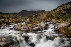 Snowdonia (paullangton) Tags: wales ogwen valley waterfall landscape water rocks mountain mist nature snowdonia