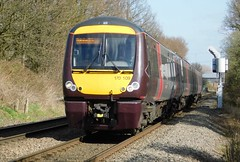 Turbostar from Stansted (The Walsall Spotter) Tags: crosscountry trains class170 turbostar 170109 birmingham stansted airport waterorton foot crossing warwickshire westmidlands ukmultipleunits