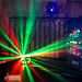 Colorful disco lights at a clubbing event