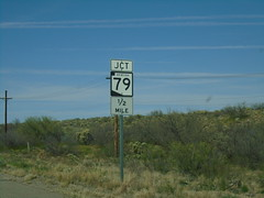AZ-77 North Approaching AZ-79 (sagebrushgis) Tags: az79 az77 pinalcounty arizona sign shield intersection